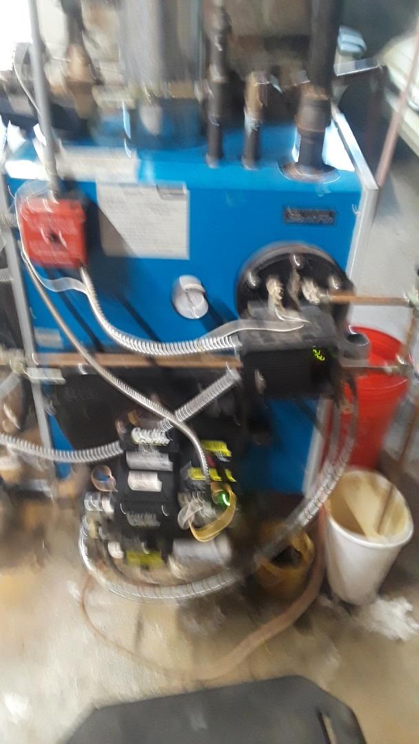 Clean and check Slant Fin oil boiler