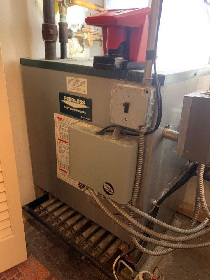 West Boylston, MA - Preventative maintenance on a peerless gas boiler