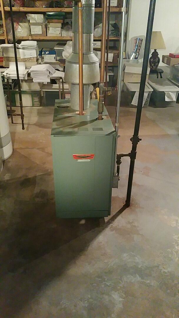 Leominster, MA - Gas heat service call. Performed repairs on peerless gas boiler