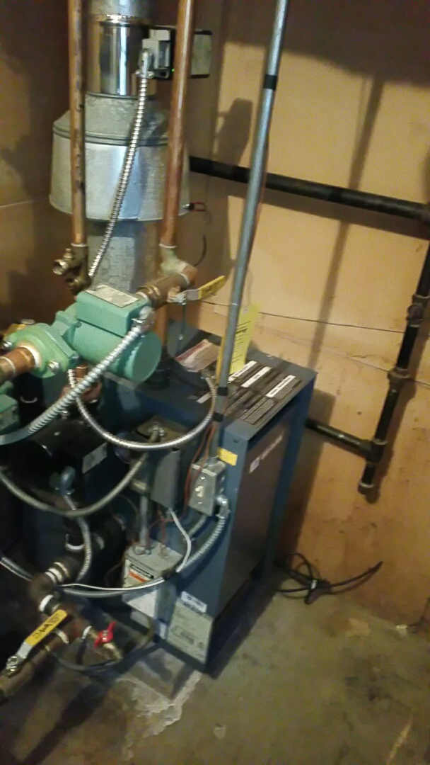 Hopkinton, MA - Gas heat maintenance. Performed cleaning and tune up on Weil McLain gas boiler