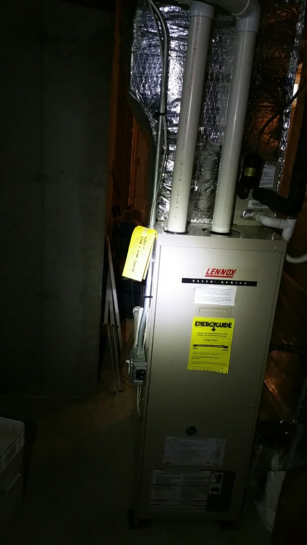 Ashland, MA - Gas heat service call. Performed repair to Lennox gas furnace