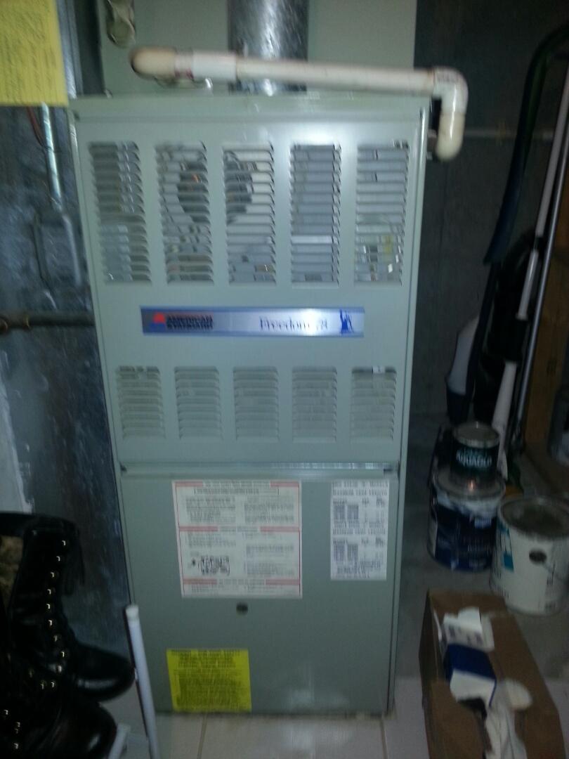Ashland, MA - Maintenance American standard furnace Aud100c936a-1