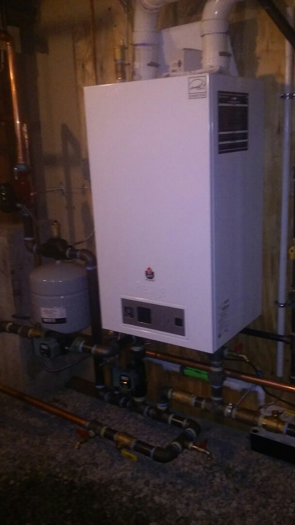 Northbridge, MA - Prestige wall hung boiler intallation