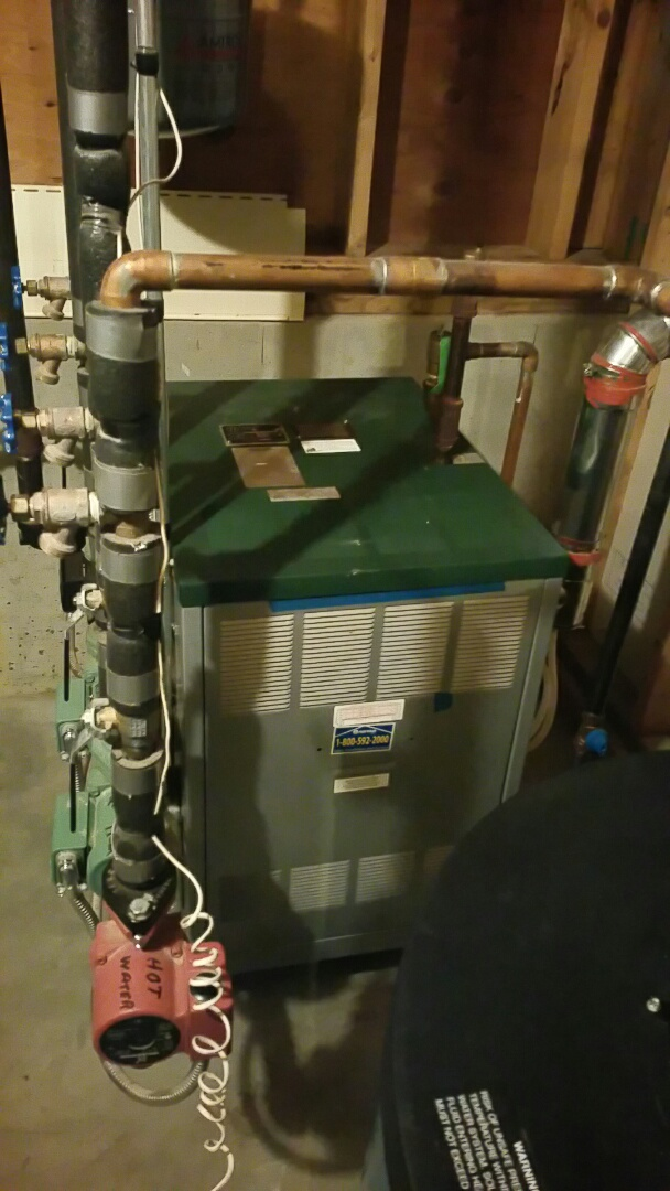 Holden, MA - Gas heat maintenance call. Performed cleaning and tune up on peerless gas fired boiler.