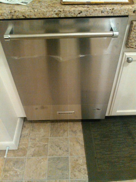 Acton, MA - Installing dishwasher