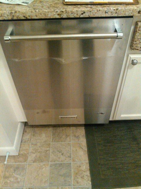 Acton, MA - Installing dishwasher