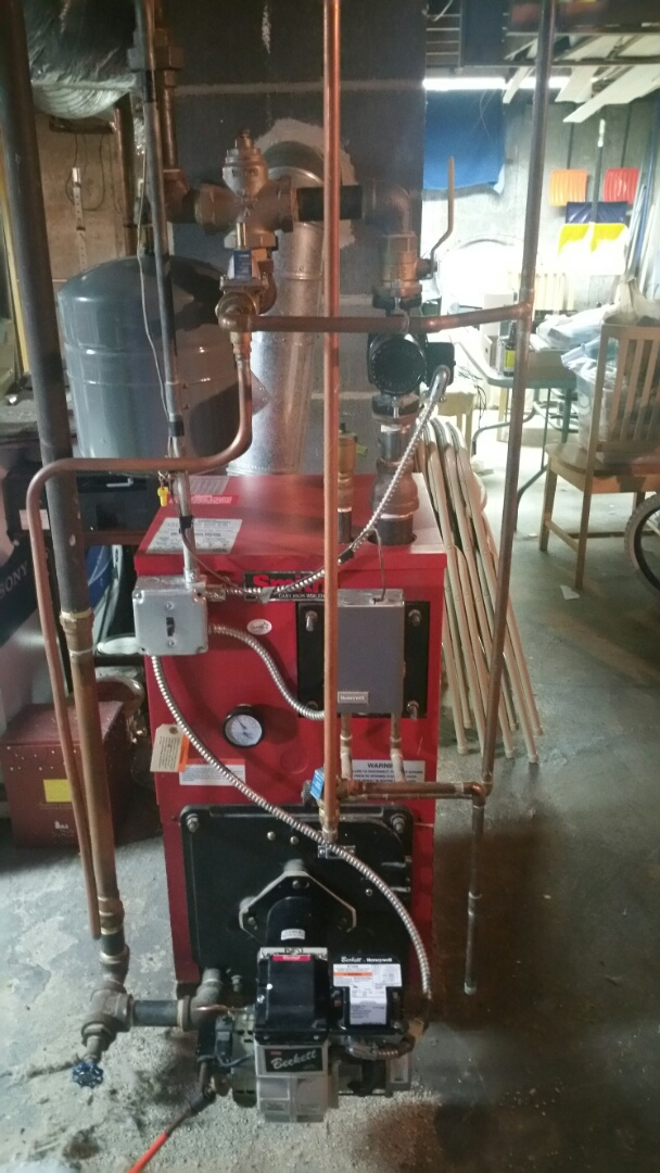 Leominster, MA - Oil heat maintenance call. Performed cleaning and tune up on smith oil fired boiler
