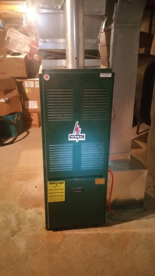 Shirley, MA - Oil heat maintenance call. Performed cleaning and tune up on new mac oil fired furnace