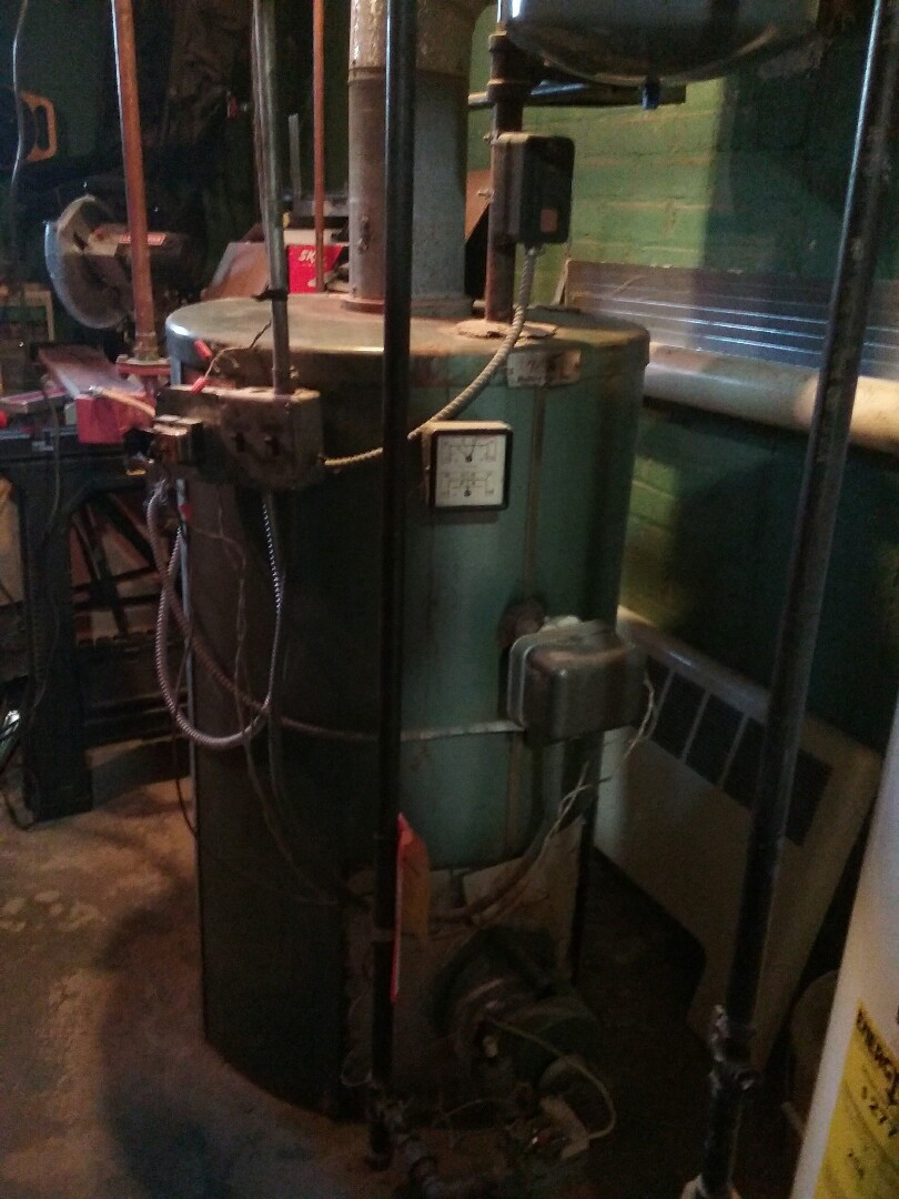 Westborough, MA - Cleaned and check gas boiler.