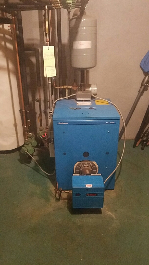 Auburn, MA - Service and clean an oil buderus boiler and 3 hydro air handlers