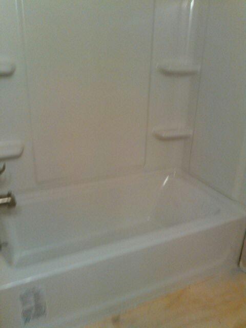 Ashburnham, MA - Installing a tub and shower unit