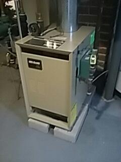 Worcester, MA - Heat repair on Weil Mclain gas boiler