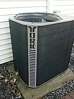 Boxborough, MA - Clean and check York a/c unit