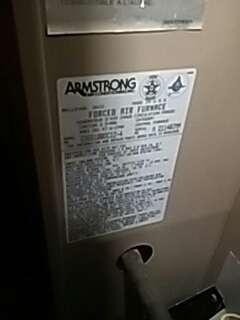 Framingham, MA - Clean and check Armstrong gas furnace and A C unit