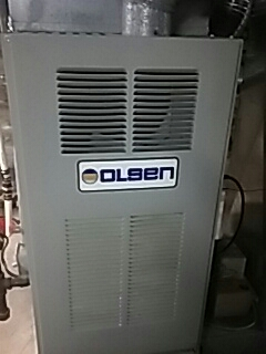 Fitchburg, MA - Clean and check Olsen gas furnace and A C unit