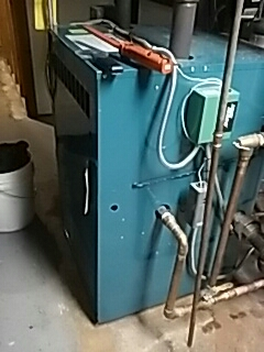 Hopedale, MA - Replacing ballvalve on a Burnham gas steam boiler