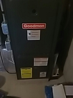 Northbridge, MA - Clean and check Goodman gas furnace