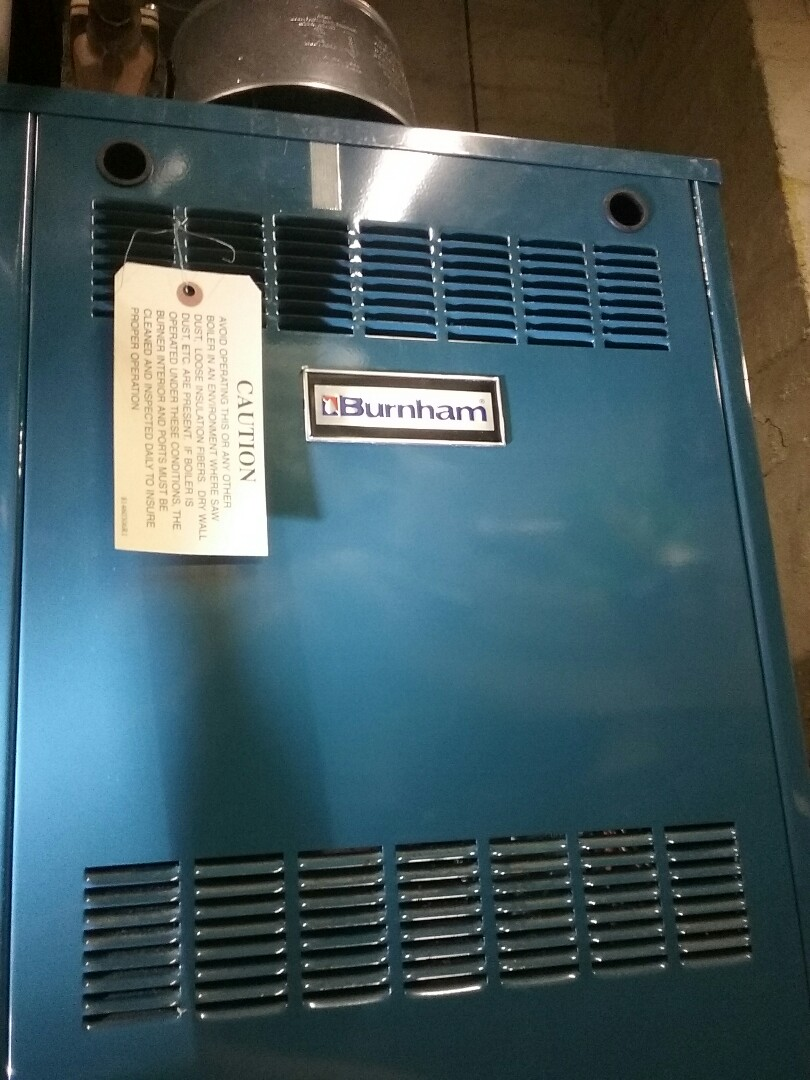 Shrewsbury, MA - Preventative maintenance on a Burnham boiler