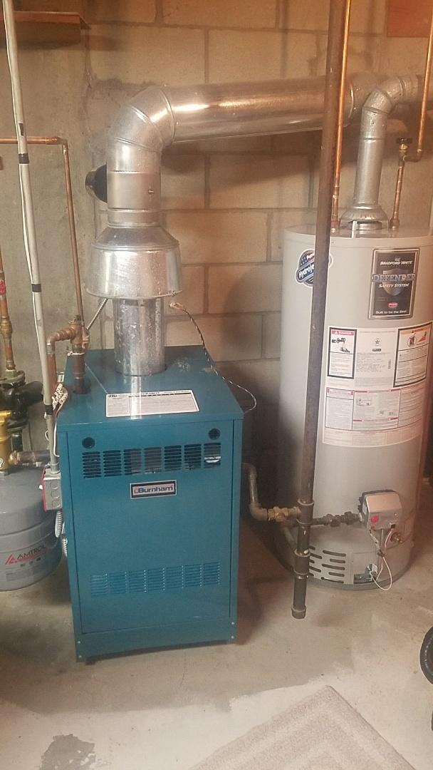 Holden, MA - service a burnham gas boiler and gas hot water heater
