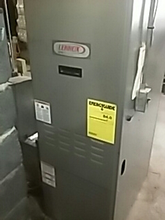Leominster, MA - Clean and check Lennox oil fired furnace