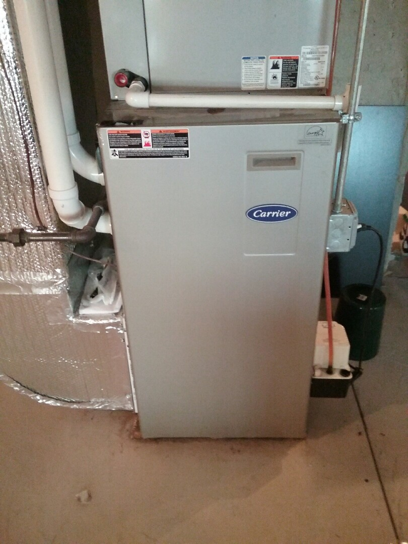 Holden, MA - Maintenance on a carrier  gas Furnace and ac