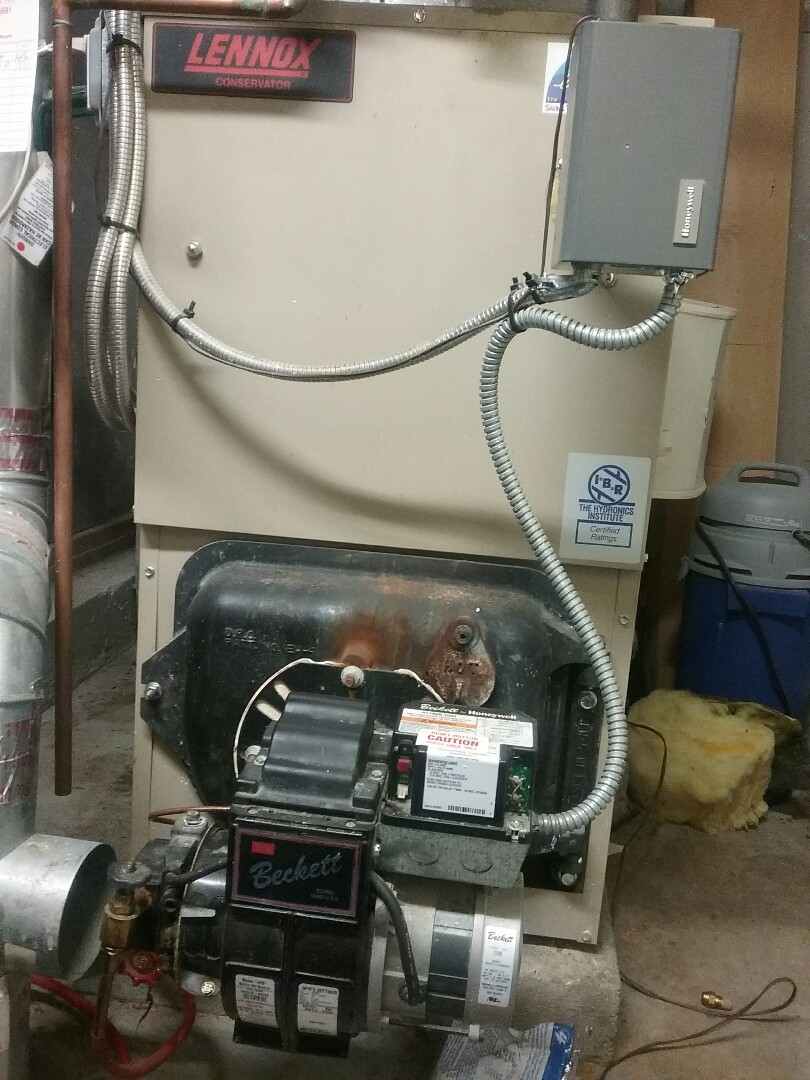 Boylston, MA - Maintenance on a Lennox oil boiler