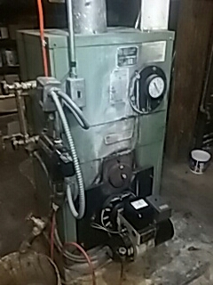 Leominster, MA - Clean and check Peerless oil fired boiler
