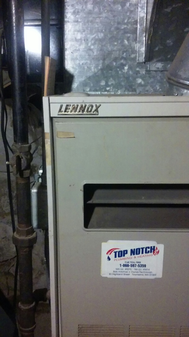 Harvard, MA - Clean and check Lennox gas furnace