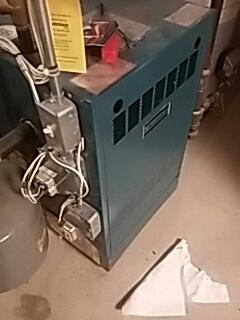 Marlborough, MA - Heat repair on a Burnham gas boiler
