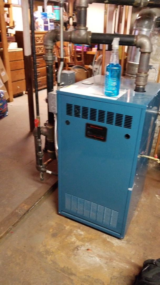Shrewsbury, MA - Servicing a burnham gas steam boiler