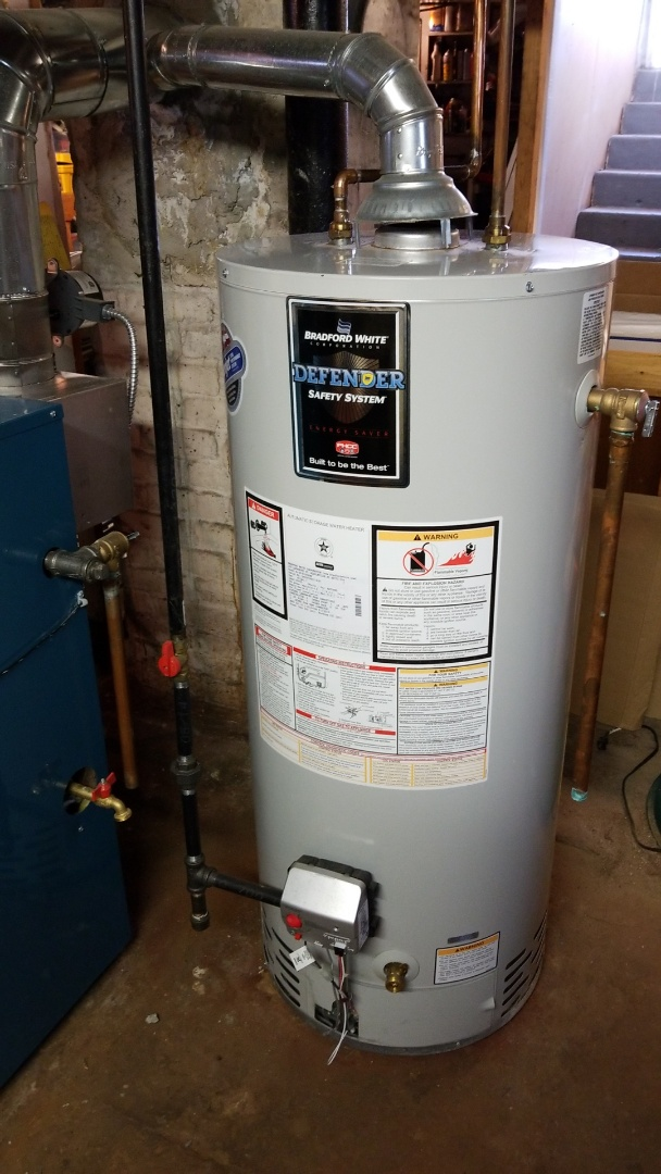Shrewsbury, MA - Srevice a bradford white gas hot water heater