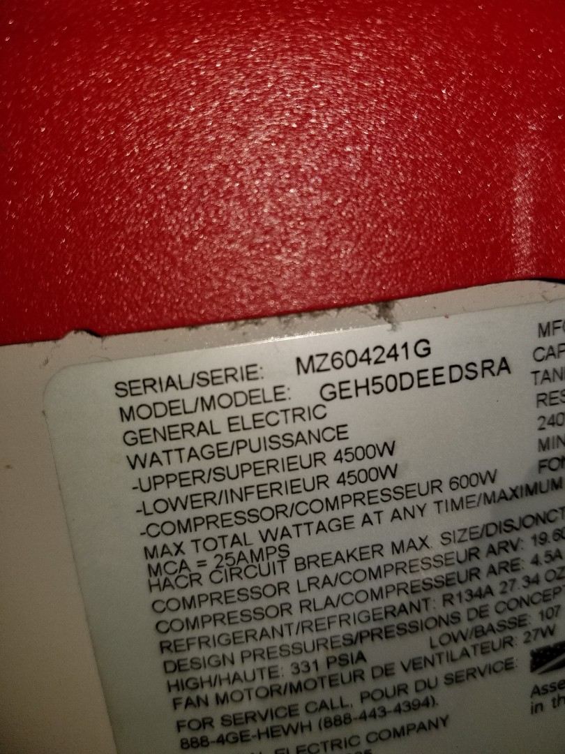 Fitchburg, MA - Service a geo spring hybrid hot water heater