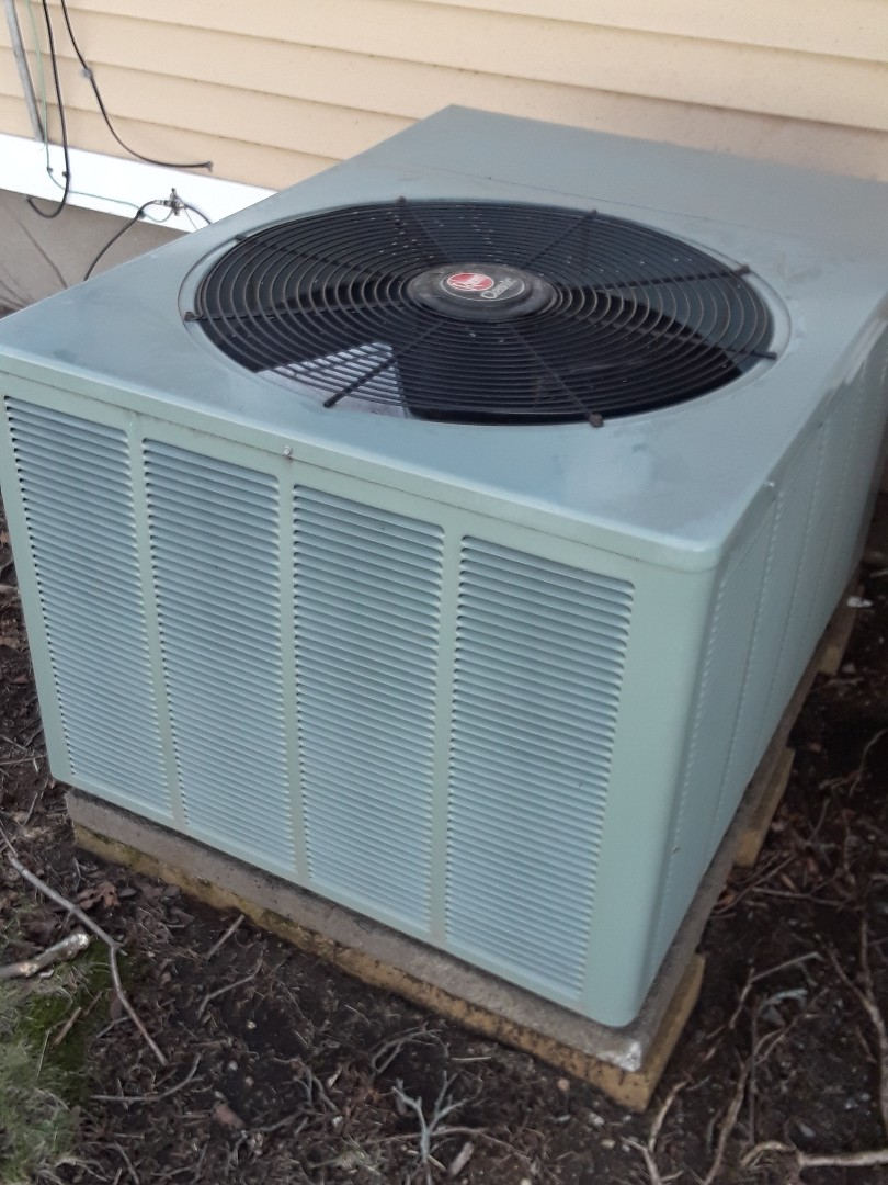 Millbury, MA - Clean and Check Rheem A/C unit