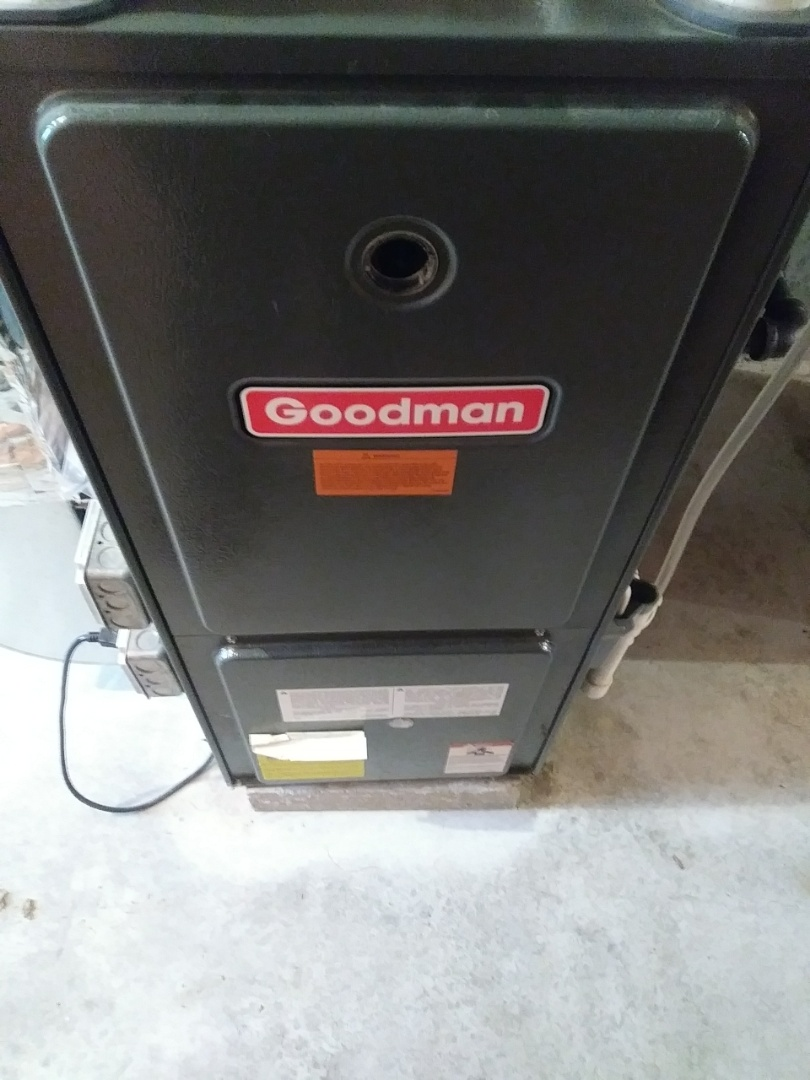 Northbridge, MA - Cleaning and checking Goodman furnace