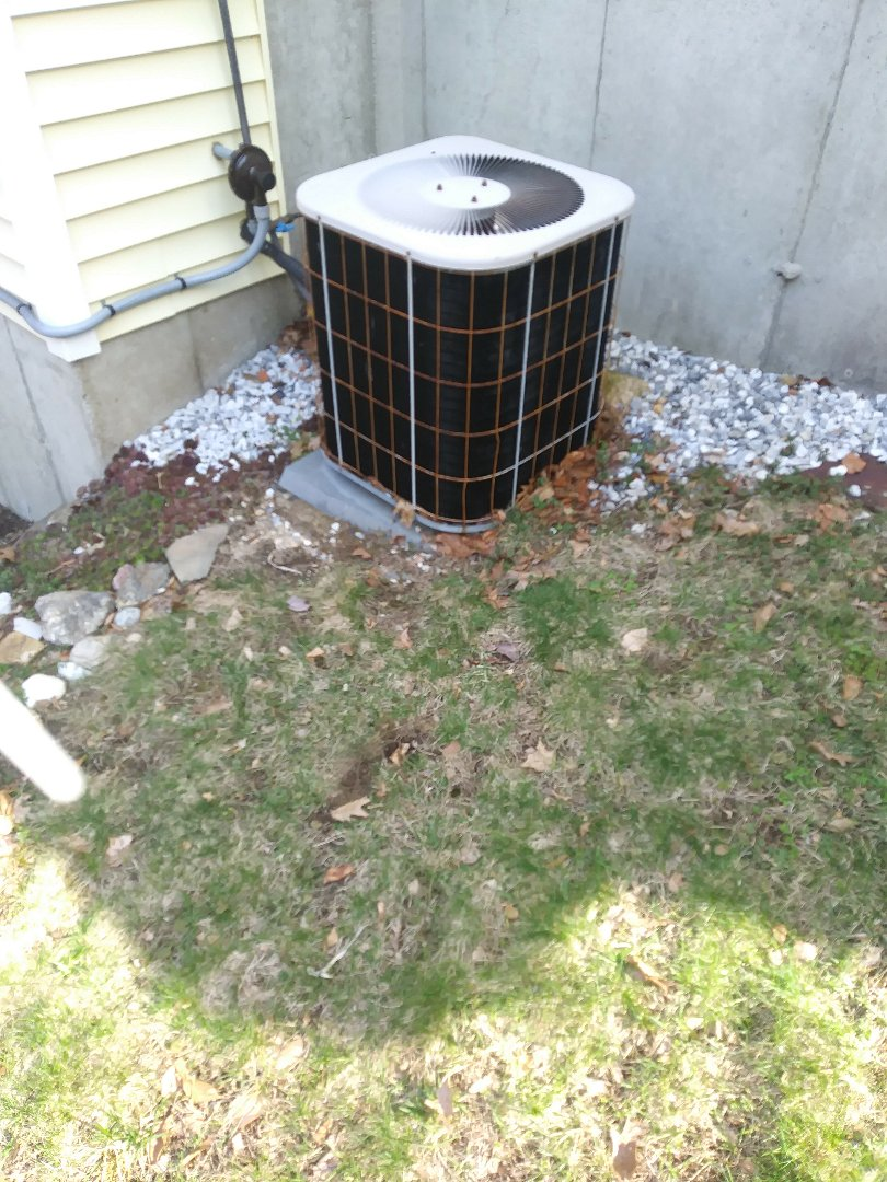 Ashby, MA - Performing a clean and check on a concord a/c system