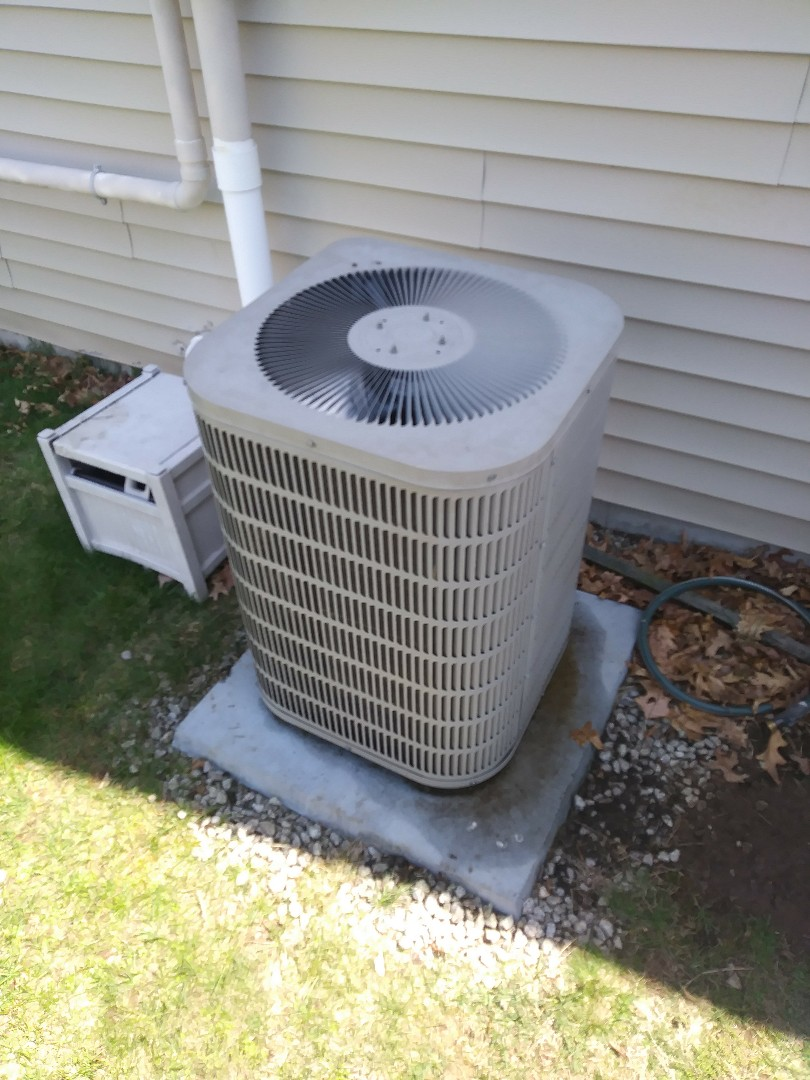 West Boylston, MA - Performing clean and check on Goodman air conditioning unit