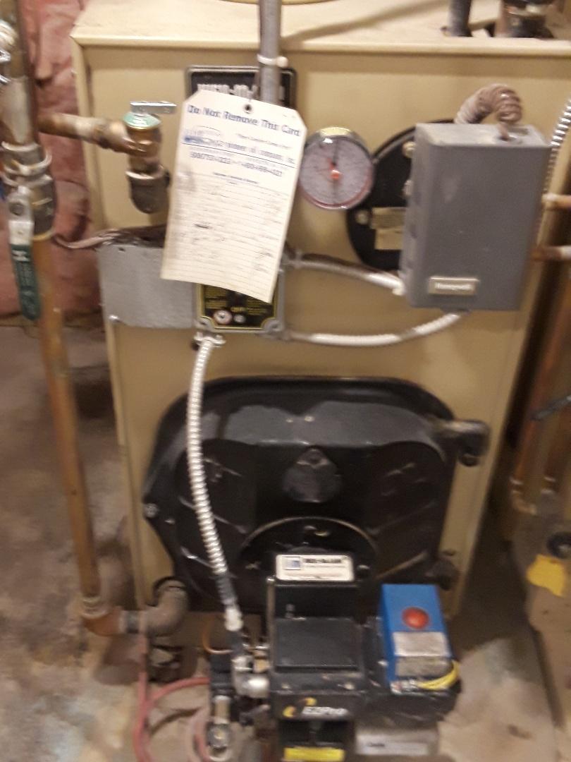 Auburn, MA - Clean and check Weil Mclain oil boiler
