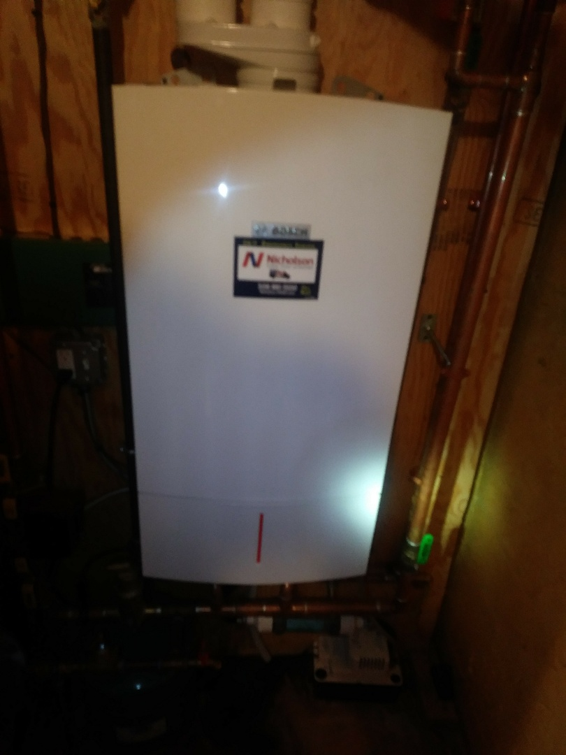 Hopkinton, MA - Clean and check on a wall hung Bosch boiler