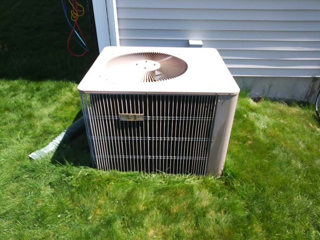 Milford, MA - Washing coils on Armstrong air conditioning system