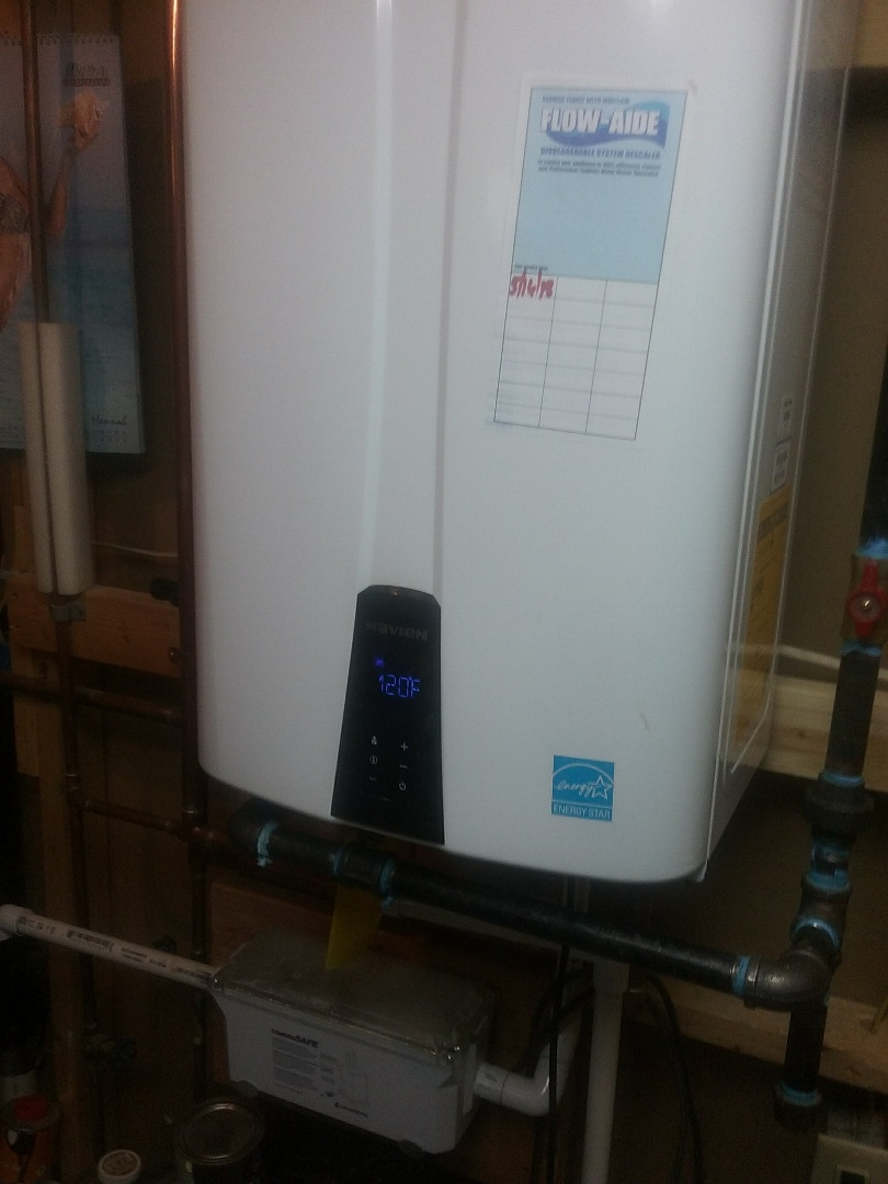 Holland, MA - Service of a navien tankless water heater