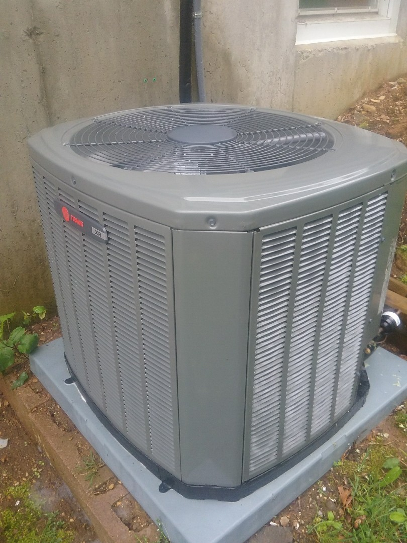 Holland, MA - Service of a trane air conditioning system