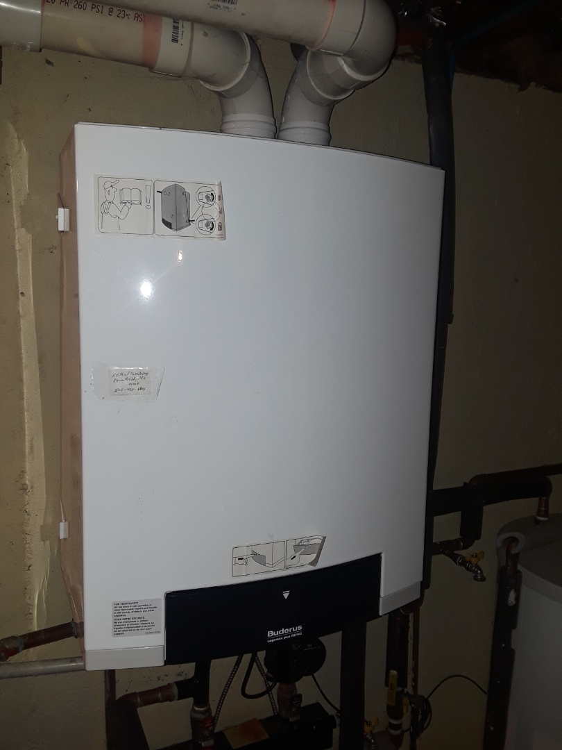 Shirley, MA - Heat repair on a Buderus gas boiler