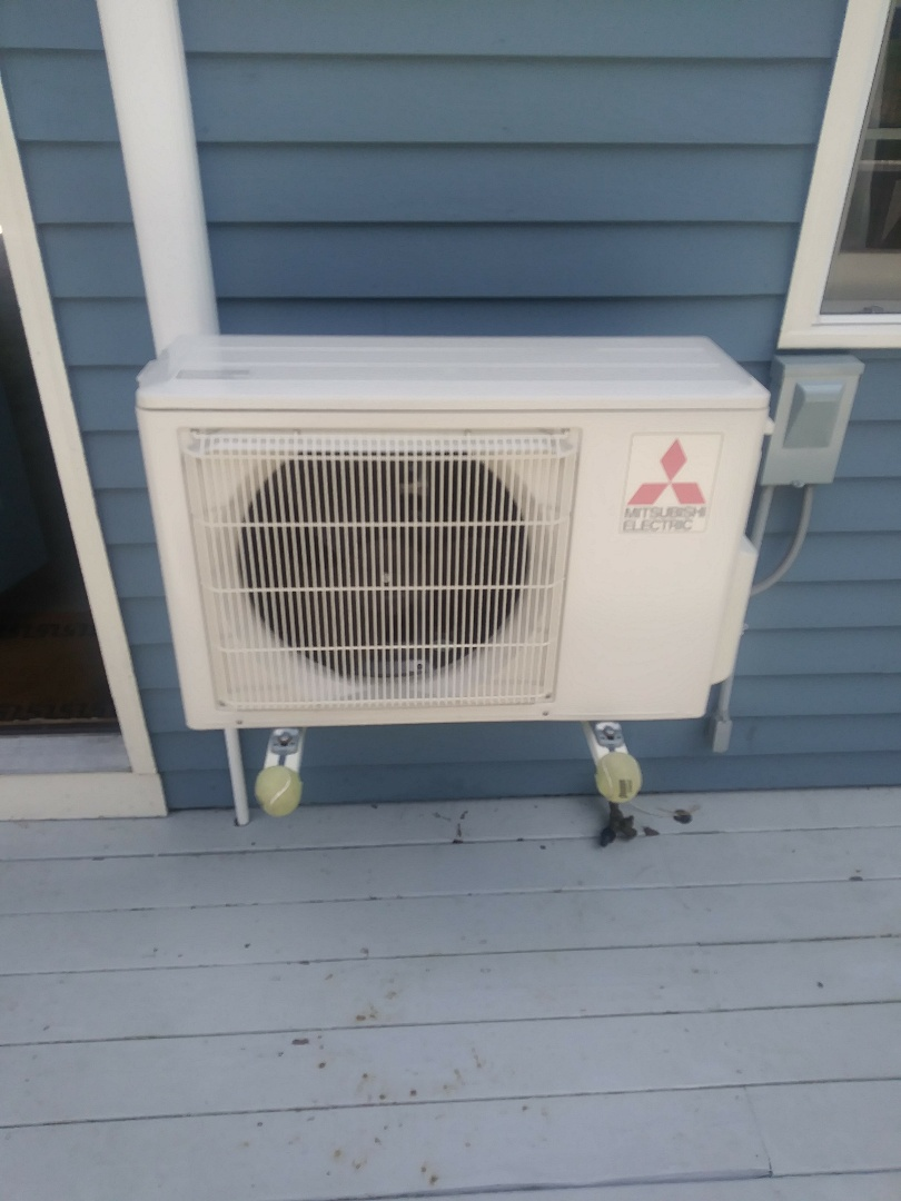 Charlton, MA - Performing clean and check on Mitsubishi heat pump mini split unit