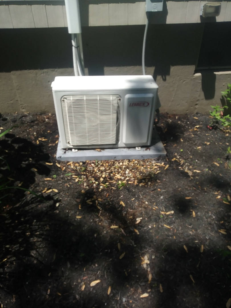 Auburn, MA - Performing clean and check on ductless mini split heat pump air condition system