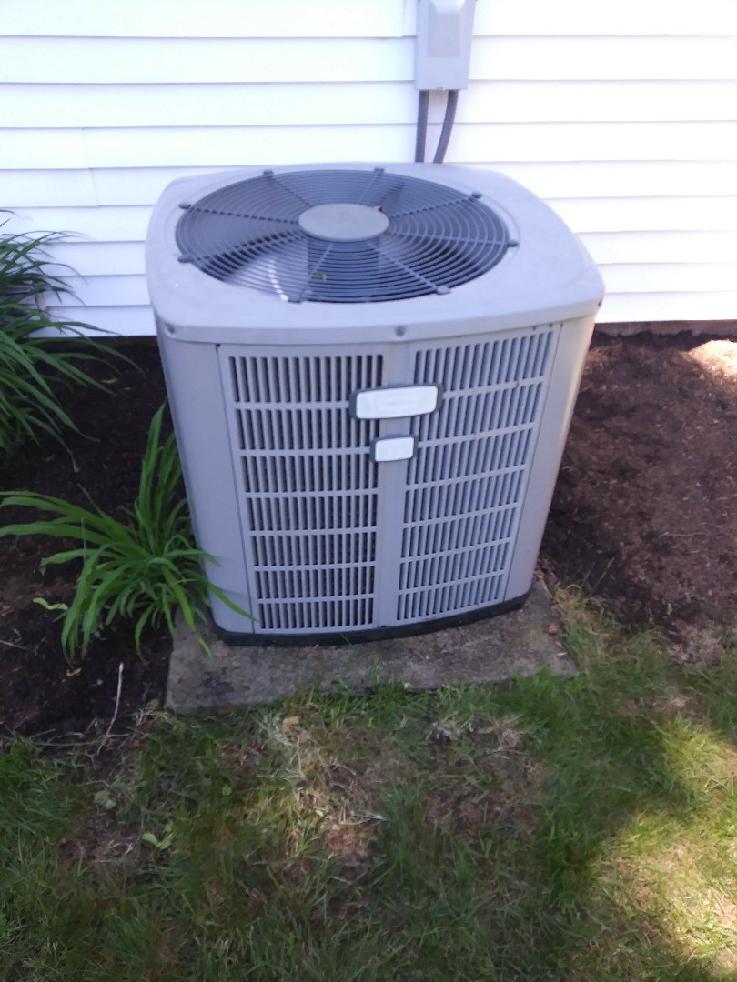 Marlborough, MA - Performing clean and check on american standard air conditioning system