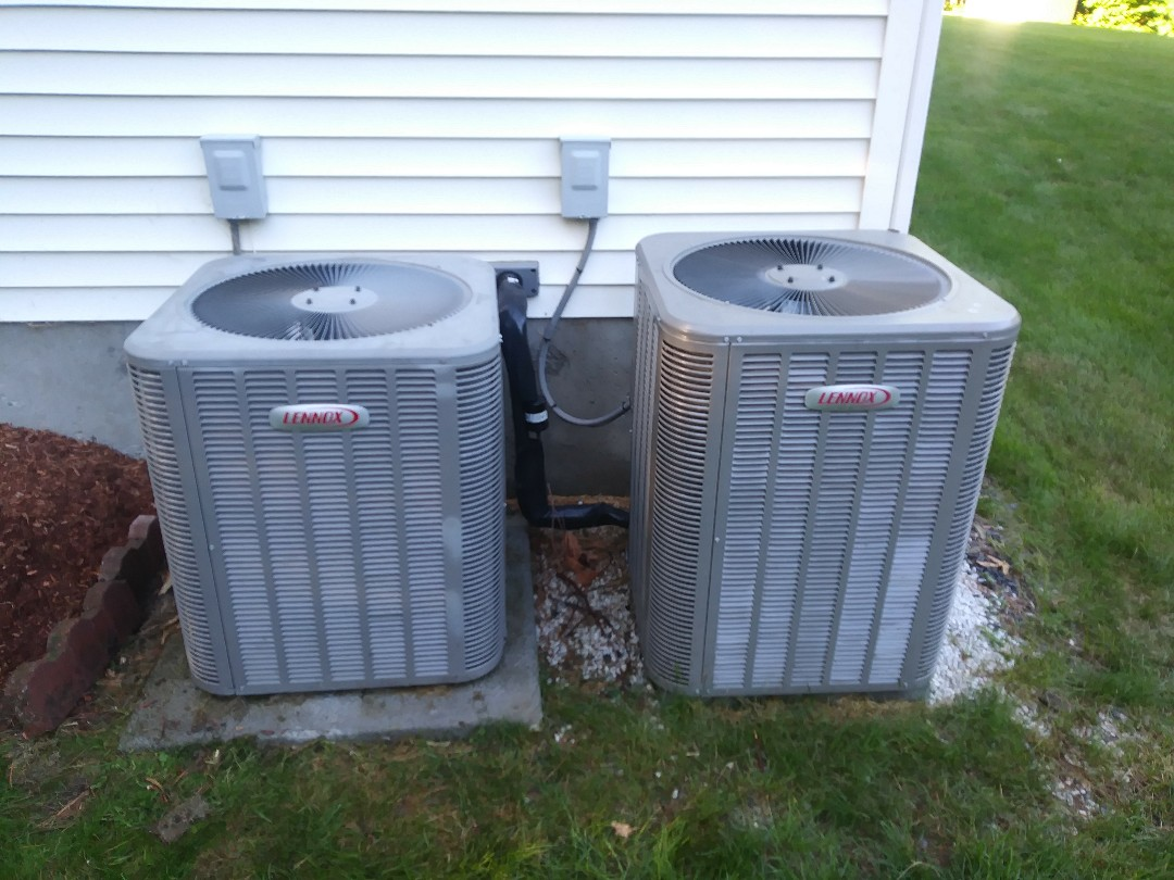 Shrewsbury, MA - Performing clean and check on lennox heat and a/c system