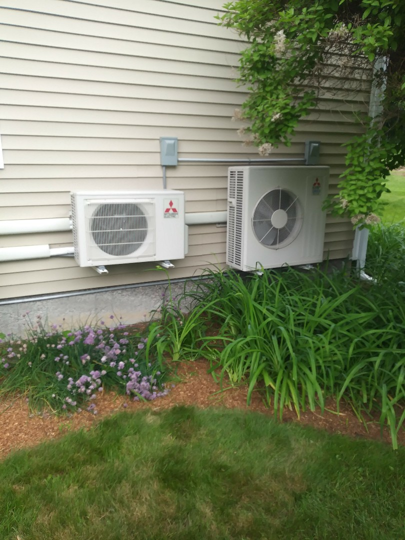Northbridge, MA - Performing repair on mitsubishi ductless mini split heat pump air condition system