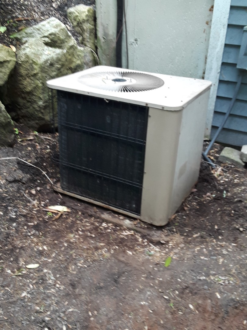 Shrewsbury, MA - Condenser fan motor replacement on an Armstrong AC unit