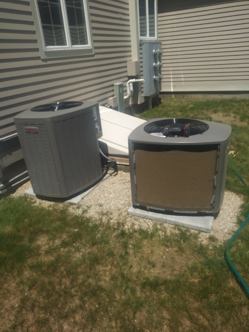 Westborough, MA - Performing clean and check on lennox central air conditioning system