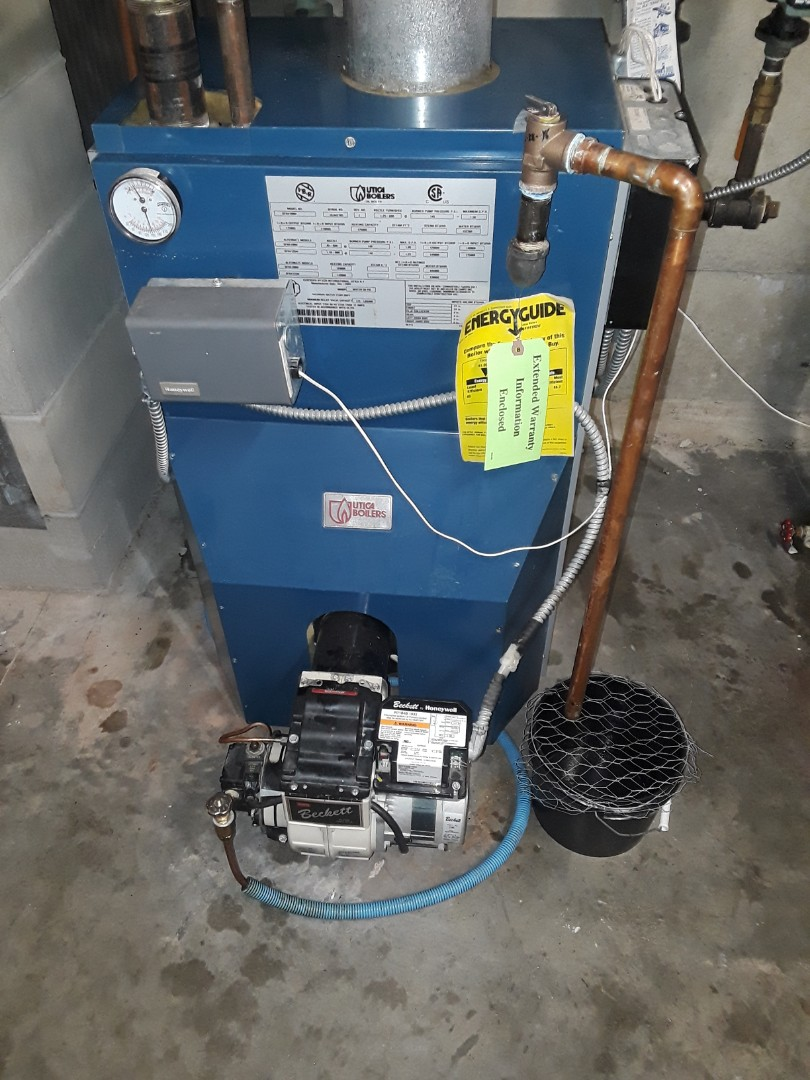 Gardner, MA - Boiler repair on A Utica Oil boiler